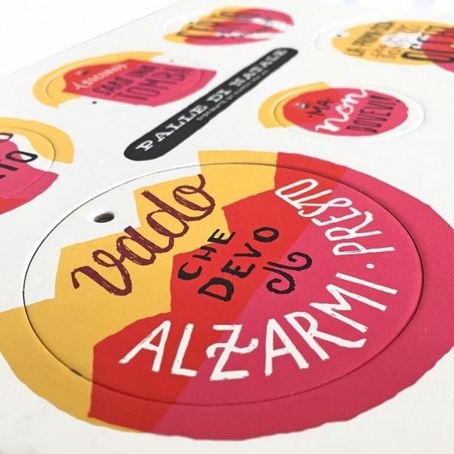 Palle di Natale - 5a edizione, Tavola 1 - sei dischi decorativi stampati su cartone riciclato