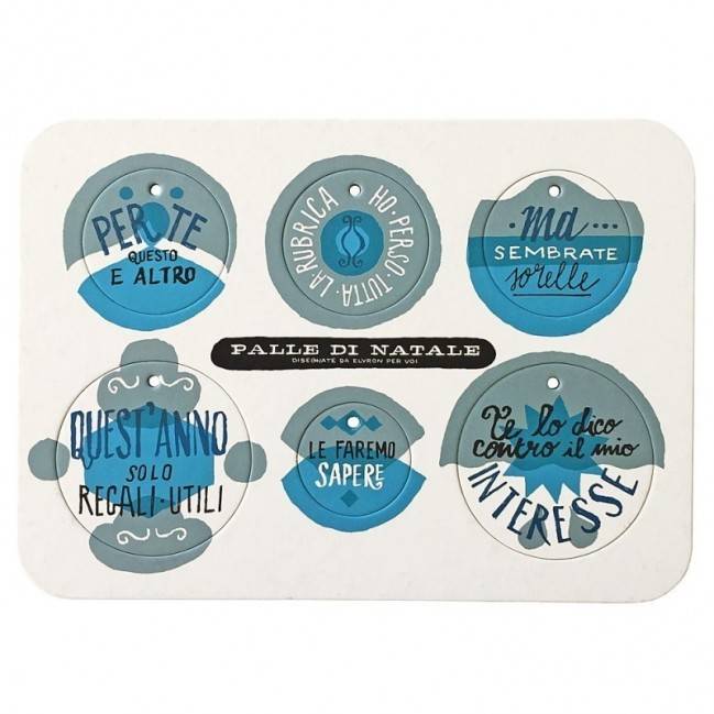 Palle di Natale - Boules de Noël - 5ème édition, Planche 2 – six disques décoratifs imprimés sur carton recyclé