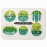 Palle di Natale - Boules de Noël - 5ème édition, Planche 3 – six disques décoratifs imprimés sur carton recyclé