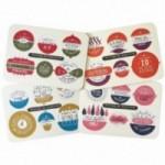 Palle di Natale - 4a edizione, set completo di 4 tavole per 24 dischi decorativi stampati su cartone riciclato