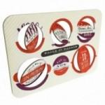 Palle di Natale - 4a edizione, Tavola 2 - sei dischi decorativi stampati su cartone riciclato