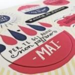 Palle di Natale - 4a edizione - Tavola 4 - sei dischi decorativi stampati su cartone riciclato