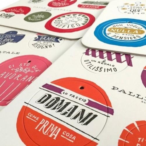 Palle di Natale - 3a edizione, set completo di 4 tavole per 24 dischi decorativi stampati su cartone riciclato