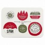 Palle di Natale - 3a edizione, Tavola 1 - sei dischi decorativi stampati su cartone riciclato