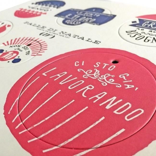 Palle di Natale - 3a edizione - Tavola 4 - sei dischi decorativi stampati su cartone riciclato