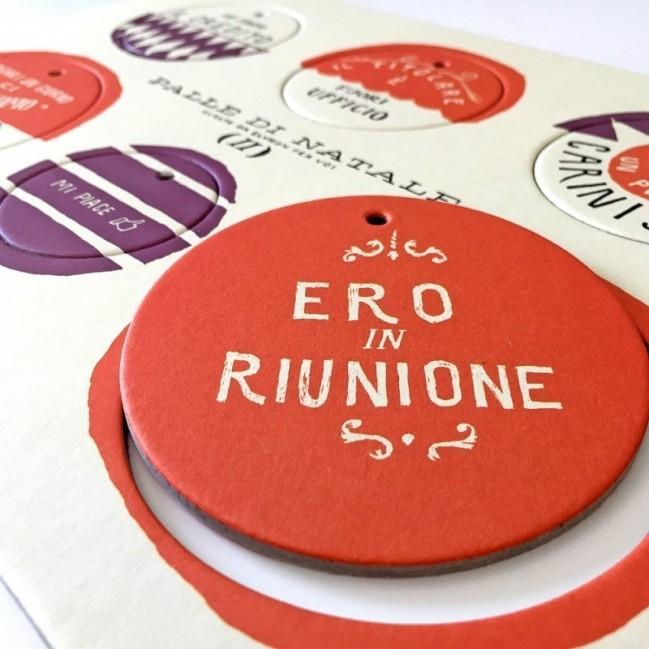 Palle di Natale - Boules de Noël - 2ème édition, Planche 2 – six disques décoratifs imprimés sur carton recyclé
