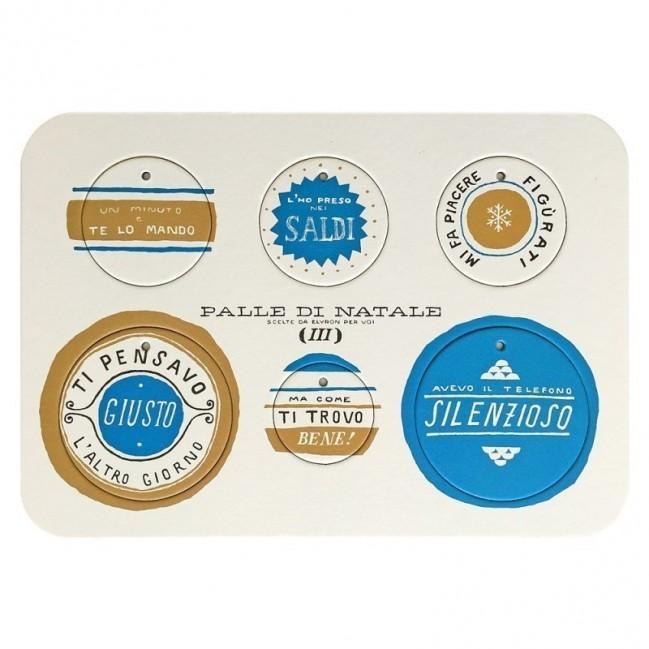 Palle di Natale - 2a edizione, Tavola 3 - sei dischi decorativi stampati su cartone riciclato