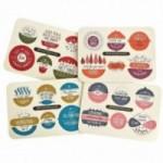 Xmas Balls, set completo di 4 tavole per 24 dischi decorativi