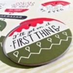 Ballsh*t - Planche 1 – six disques décoratifs imprimés sur carton recyclé