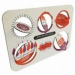 Xmas Balls - Tavola 2 - sei dischi decorativi stampati su cartone riciclato