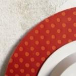 """Horloge murale – """"Lunedì inizio la dieta"""" – imprimé sur carton recyclé, diamètre 32cm, avec mécanisme silencieux"""