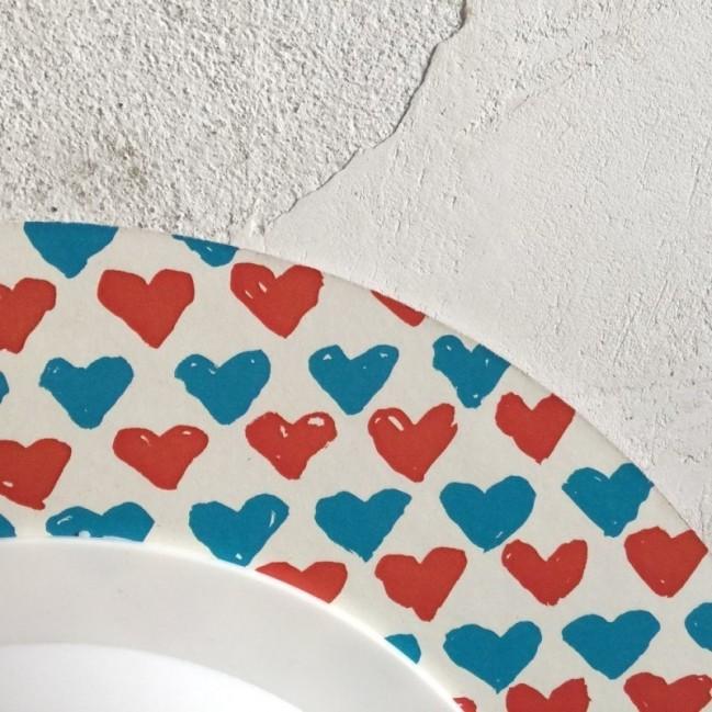 """Horloge murale – """"Ti penso sempre"""" – imprimé sur carton recyclé, diamètre 32cm, avec mécanisme silencieux"""