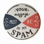 "La Pin de LePalle: spilla ""your message must be in my spam"""