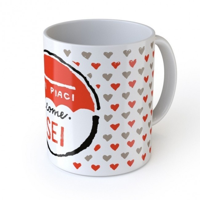 """Love Mug """"Mi piaci come sei"""", tazza in ceramica"""