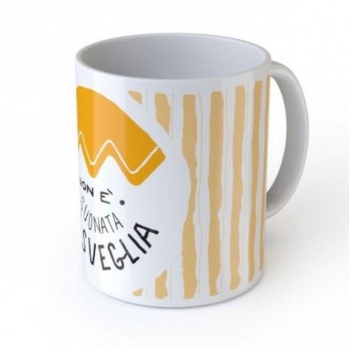 """Mug """"Non è suonata la sveglia"""", tazza in ceramica"""