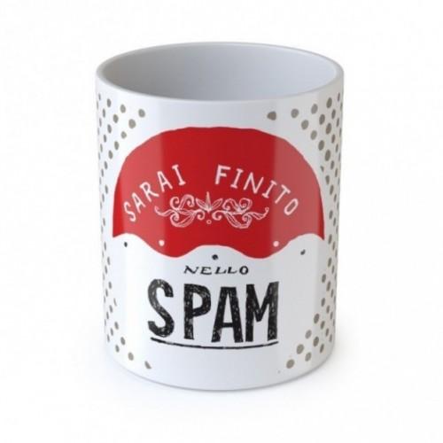 """Mug """"Sarai finito nello spam"""", tazza in ceramica"""