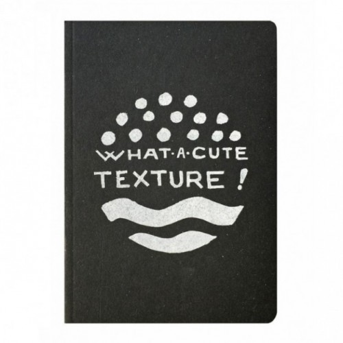 "Notes tascabile ""What a cute texture!"", copertina nera e interno in carta colore nero"