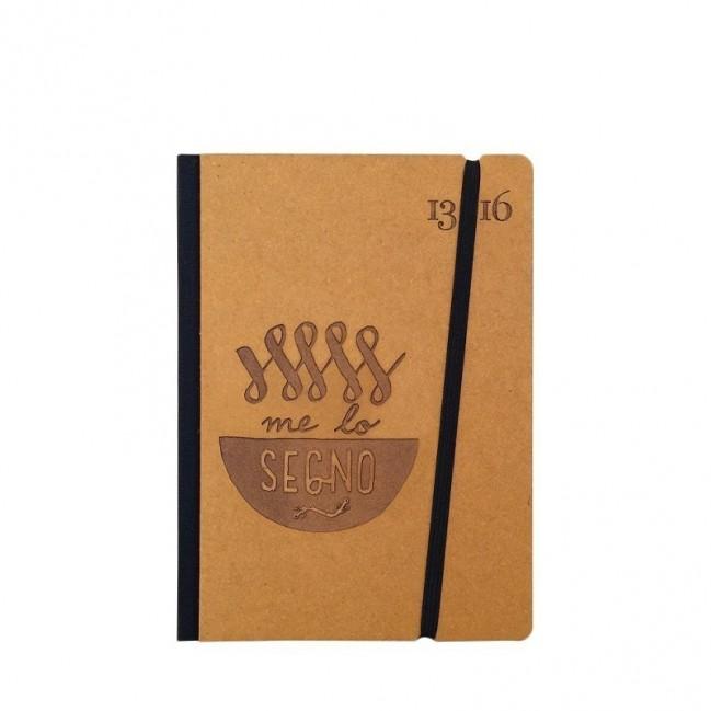 """Taccuino """"Me lo segno"""" copertina rigida OCRA in cartone naturale, formato SMALL tascabile 11x15 cm"""
