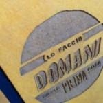"""Carnet """"Lo faccio domani come prima cosa"""" couverture rigide jaune ocre en carton naturel, format LARGE 16x21,7 cm"""