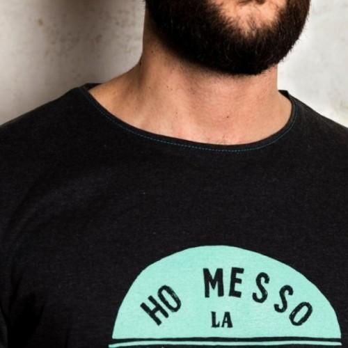 "T-shirt homme ""Ho messo la prima cosa che ho trovato"" 100% coton coloris gris anthracite"