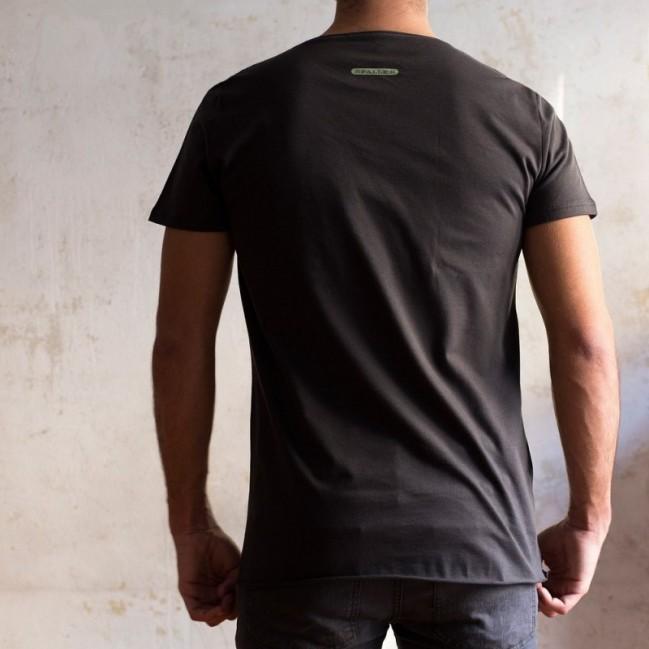 """T-shirt homme """"decidi tu, per me va bene tutto"""" 100% coton coloris gris anthracite"""