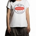 "T-shirt femme ""non ho mai niente da mettermi"" 100% coton coloris blanc"