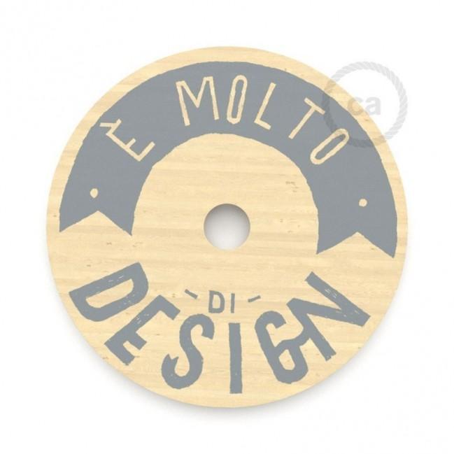 """Le Palle Volanti. Paralume disco in legno con stampa su due facciate - """"E' molto di design"""" + pattern Drops"""