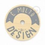 """Pendel completo """"Le Palle Volanti"""" disegno """"E' molto di design"""" + pattern Drops e cavo tessile RN06 Juta"""