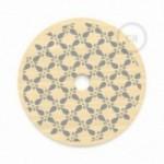 """Suspension complète """"Le Palle Volanti"""" motif """"It's not old, it's vintage"""" + pattern Drops et câble textile RN06 en jute"""