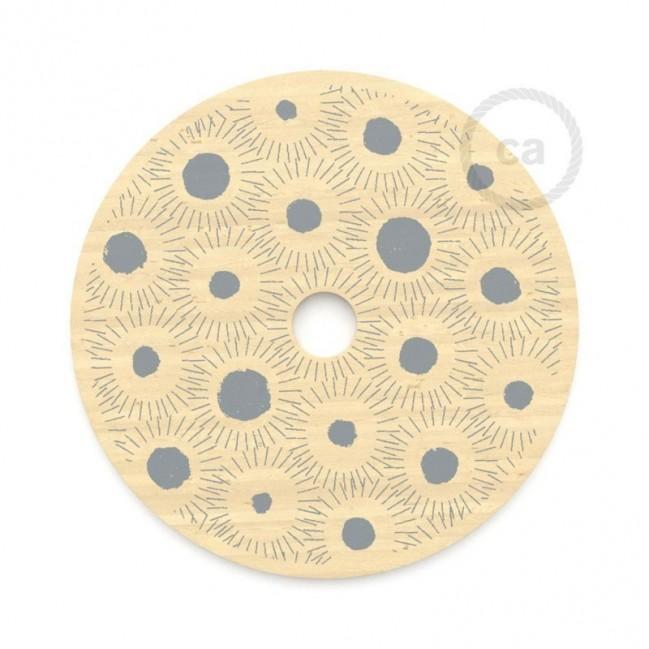 """Suspension complète """"Le Palle Volanti"""" motif pattern Drops + pattern Trippy et câble textile RN06 en jute"""