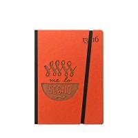 """Taccuino """"Me lo segno"""" copertina rigida ARANCIONE in cartone naturale, formato SMALL tascabile 11x15 cm"""