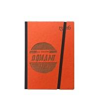 """Taccuino """"Lo faccio domani come prima cosa"""" copertina rigida ARANCIONE in cartone naturale, formato SMALL tascabile 11x15 cm"""