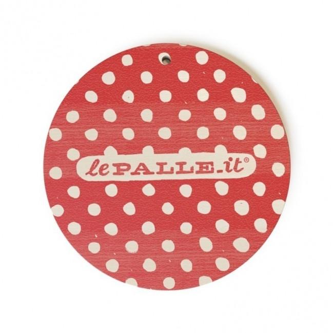 """Monopalla """"decidi tu per me va bene tutto"""", disco decorativo in legno stampato a colori"""