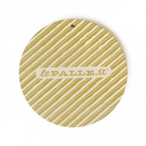 """Monopalla """"prossima settimana organizziamo"""", disco decorativo in legno stampato a colori"""