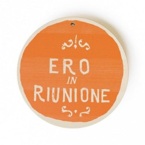 """MonoPipeau """"ero in riunione"""" disque décoratif en bois imprimé en couleurs"""
