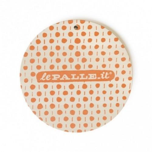 """Monopalla """"ero in riunione"""", disco decorativo in legno stampato a colori"""