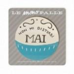 """MonoPipeau """"non mi disturbi mai"""" disque décoratif en bois imprimé en couleurs"""