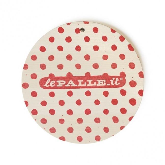 """Monopalla """"just what I've always wanted"""", disco decorativo in legno stampato a colori"""