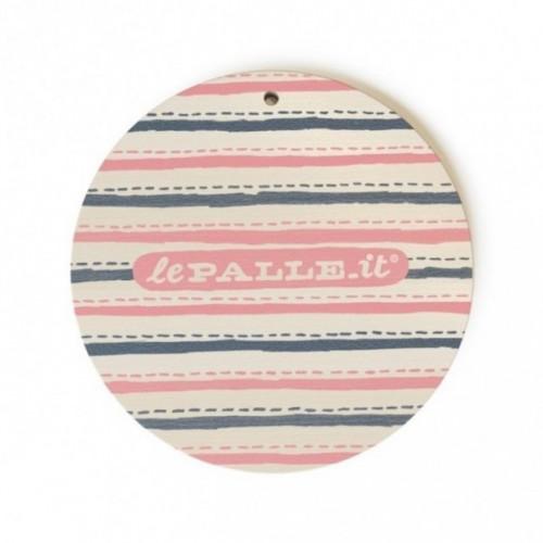 """Monopalla """"your message must be in my spam"""", disco decorativo in legno stampato a colori"""