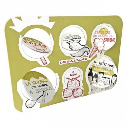 Le Palline, Tavola 2 - sei dischi decorativi stampati su cartone riciclato