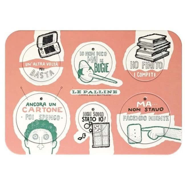Les Petites Boules, Planche 3 - six disques décoratifs imprimés sur carton recyclé