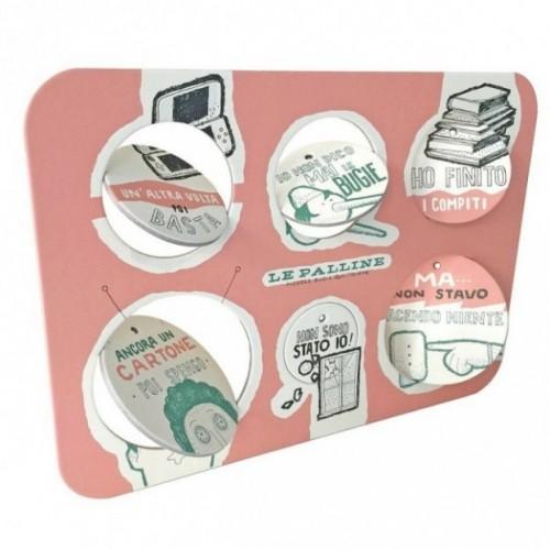 Le Palline, Tavola 3 - sei dischi decorativi stampati su cartone riciclato