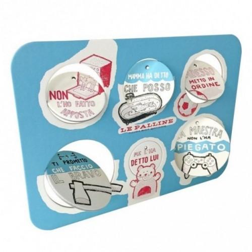 Le Palline, Tavola 4 - sei dischi decorativi stampati su cartone riciclato