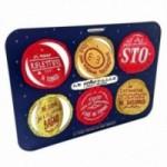 Le AstroPalle di Simon & The Stars - set de 2 planches avec 12 disques décoratifsimprimés sur carton recyclé