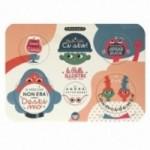 Palle ILLUSTRI vol. 2 - Tavola illustrata da Hikimi con 6 dischi decorativi stampati su cartone riciclato