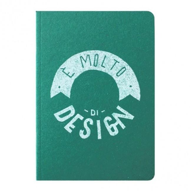 """Carnet """"È molto di design!"""", couverture verte émeraude et intérieur en papier noir"""