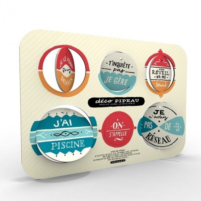 Deco Pipeau 01 set completo di 2 tavole per 12 dischi decorativi stampati su cartone riciclato