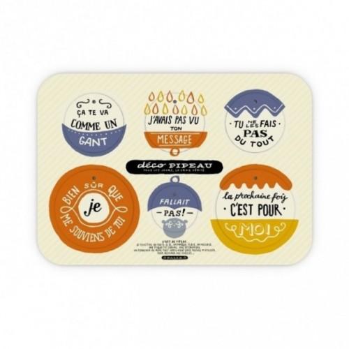 Deco Pipeau 02 set completo di 2 tavole per 12 dischi decorativi stampati su cartone riciclato
