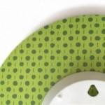 """Orologio da parete - """"Je commence le régime lundi"""", stampato su cartone riciclato, diametro 32 cm con meccanismo silenzioso"""