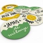 """""""Deco Pipeau - Les Sous Verres"""" - Set di 12 divertenti sottobicchieri colorati in fibra di cellulosa lavabile riutilizzabili"""